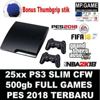 PS3 Slim CFW 500GB Full Games Terbaru (playstation 3)