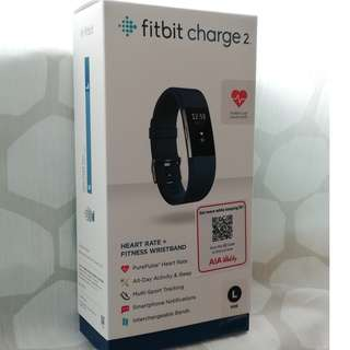 FitBit Charge 2 (Blue L Size Band)