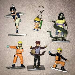 Naruto Figurines and Keychain (Lot of 6 pcs)