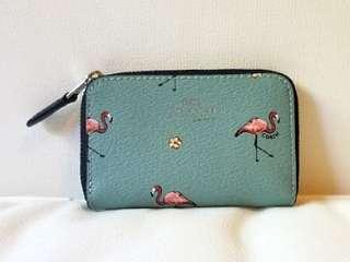 COACH Zipper Coin Case - Flamingo Print 火鳥圖案