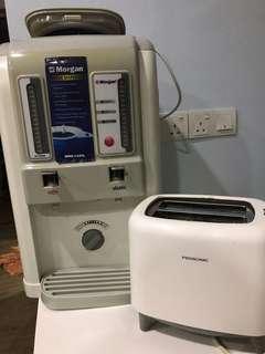 Morgan Water dispenser +pensonic toast oven