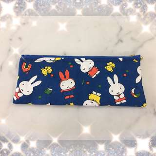 Miffy pencil case with fabric button