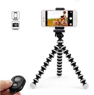 User friendly octopus tripod with Bluetooth