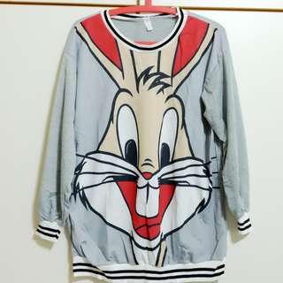 🚚 兔兔落肩寬鬆圖T