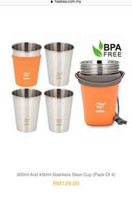 Haakaa stainless steel Cup (pack of 4)
