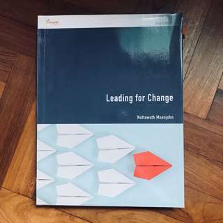 Leading for Change textbook 2nd Edition