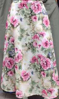 PO: Maxi Skirt - Cream Pink Floral