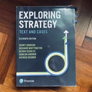 Exploring Strategy Text and Cases textbook 11th Edition