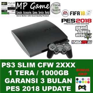 Sony Playstation 3 PS3 Slim CFW Seri 2xxx 1 Tera/ 1000gb Full Games