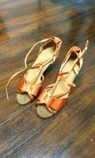 Strap heeled sandals