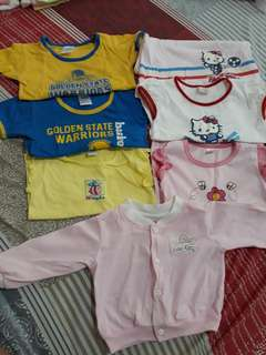 Pre-loved baby shirts