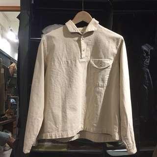 🚚 Noun 純棉半罩長袖襯衫
