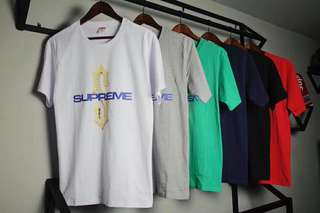 Supreme tee in 5 colors