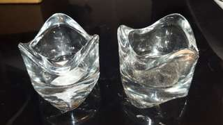 IKEA glass mini candle holders