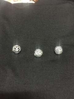 Authentic openwork pandora charms