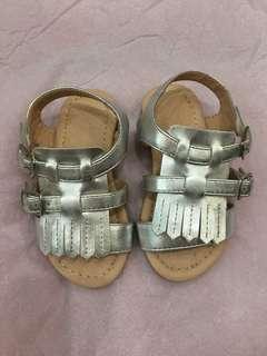 全新韓國🇰🇷女童銀色涼鞋