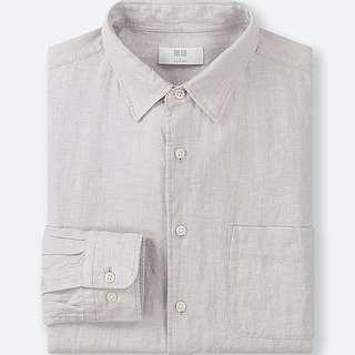 UNIQLO Men Premium Linen Long Sleeve Shirt