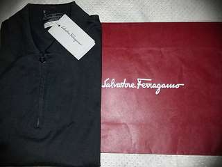 Repriced SALVATORE FERRAGAMO ZIPPED POLO