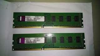 Kingston DDR3-1333  2gb  x2