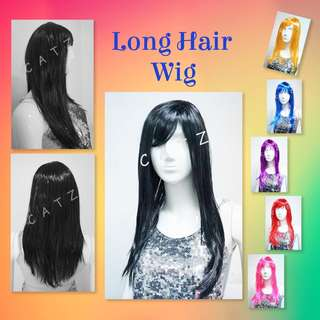 < CATZ > Long Hair Wig Party Hair Wig Party Accessories