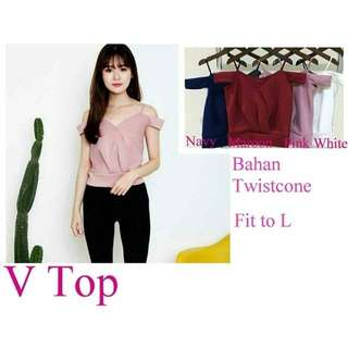 Murahh V top Blouse Pink