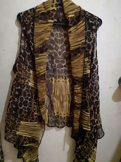 *RE-PRICED Chiffon Leopard Print Cover up