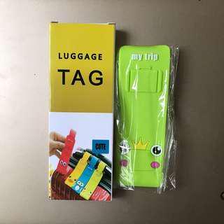 Frog prince luggage tag