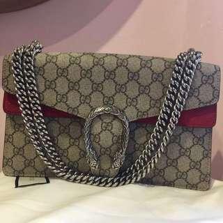 Gucci Dionysus Medium Handbag with Red Leather