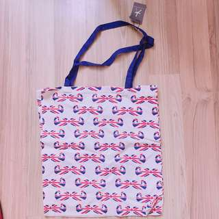 Primark union flag moustache tote bag unisex