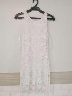 Ever New Crochet White Dress