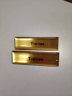 2for$5 Trainee name plate
