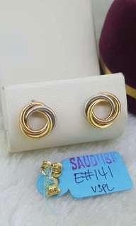 Saudi 18K ladies earrings