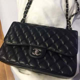 Chanel Jumbo Double Flap Black Caviar with SHW