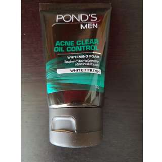 Pond's Men Acne Clear Oil Control Whitening Foam 50g