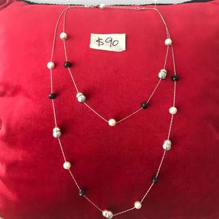 Pearls and gemstone necklace