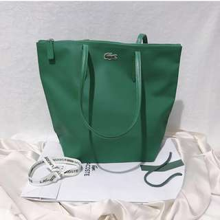 Lacoste Green Tote Bag