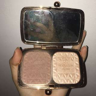 bronzer highlight duo renaissance glow makeup revolution