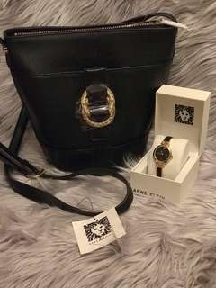 Anne Klein Bag and Watch