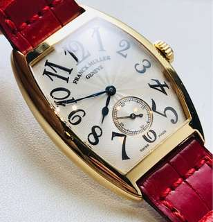 Franck Muller 18K 黃金 yellow gold lady watch  7501 S6 MM