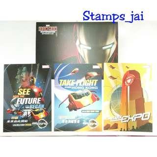 香港迪士尼樂園 鐵甲奇俠 iron man 明信片