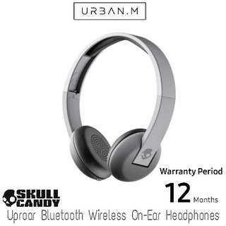 Skullcandy Uproar Bluetooth Wireless On-Ear Headphones (Street/Gray Fade/Heather)