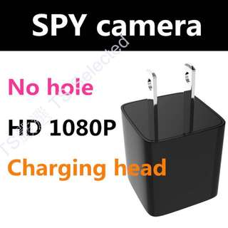 🚚 新款 UX-6 充電頭 8G 無孔 攝影機 高清 1080P 超迷你 微型 秘錄 密錄 循環 錄影 針孔攝影機 無腦 傻瓜 偽裝 隱密 監控 無線 攝像機 DVR SPY camera charger head
