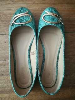 parisian blue-green doll shoes