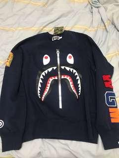 Bape crew sweater navy