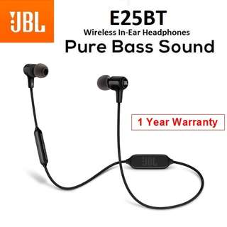 JBL E25BT Bluetooth Wireless In-Ear Headphone Earpiece Headset with Mic