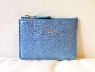 COACH Keychsin Case - Shiny Pale Blue