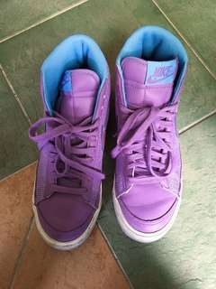 Nike high top purple