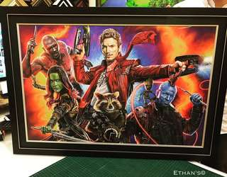 WTS Printer Proof Giclee Guardians Of The Galaxy Vol 2. Framed with Museum Tru Vue Glass.