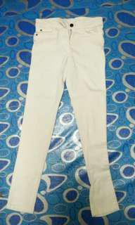 H&M WHITE JEANS