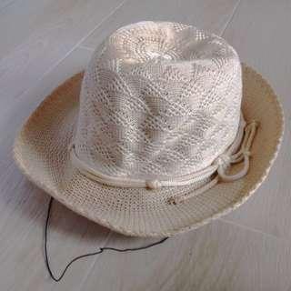 夏日沙灘繩織帽